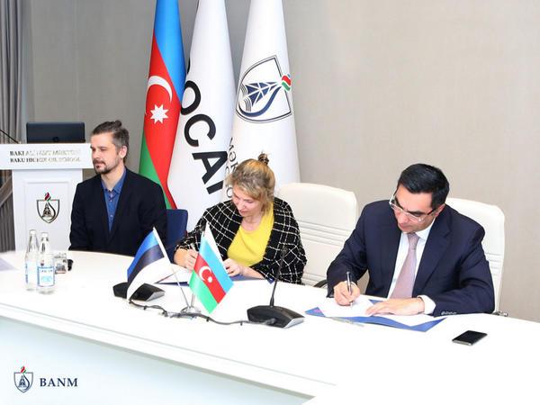Bakı Ali Neft Məktəbi Tallin Texnologiya Universiteti ilə əməkdaşlığa başladı - FOTO