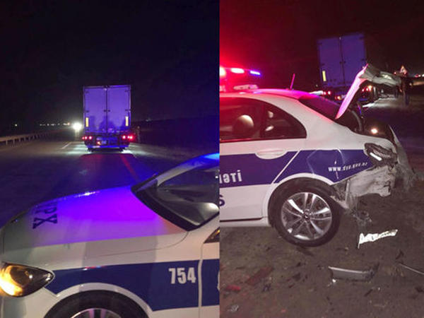 "Sərxoş sürücü YPX avtomobilini vurub bu hala saldı - <span class=""color_red"">İki polis yaralandı - FOTO</span>"