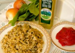 İspanaqlı düyü yeməyin resepti (10 ay +)