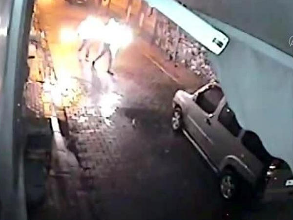 """Obyektə """"Molotov kokteyli"""" atan azərbaycanlı... - VİDEO"""
