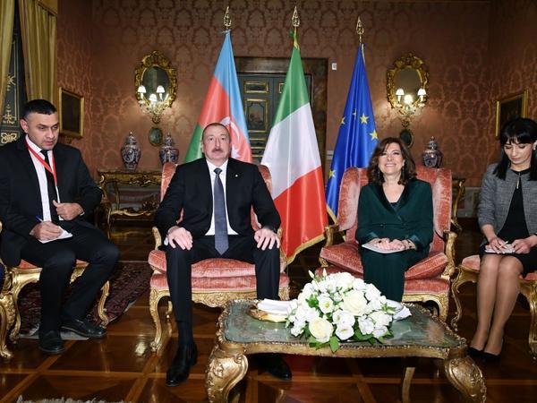 Azərbaycan Prezidenti İlham Əliyev İtaliya Senatının Sədri ilə görüşüb - FOTO