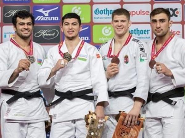 Azərbaycan cüdoçuları Almaniyada nüfuzlu yarışda 4 medala sahib olublar - FOTO