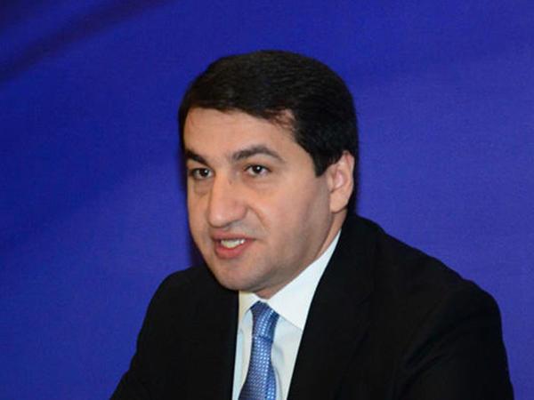 """Hikmət Hacıyev: """"Xocalı soyqırımı insanlıq əleyhinə cinayətdir"""""""