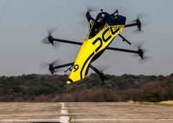 Dünyanın ilk insanlı dronu