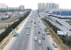 Bakının girişindəki yol genişləndirilir - FOTO