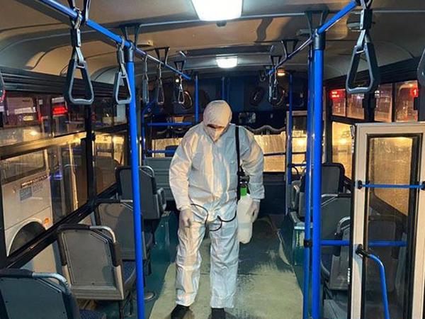 Bakı kəndlərinə gedən marşrut avtobusları dezinfeksiya edilib