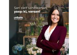 Unibankdan sahibkar xanımlara bayram hədiyyəsi: İllik cəmi 8% ilə kredit