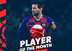 Messi ayın oyunçusu seçildi