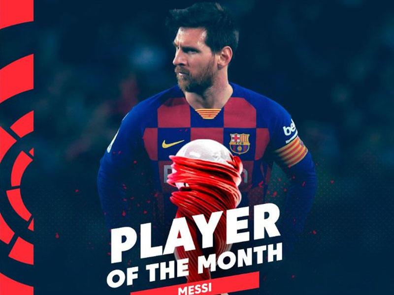 Messi ayın oyunçusu oldu
