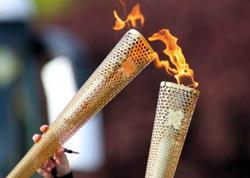 Olimpiya məşəli alovlandırılıb