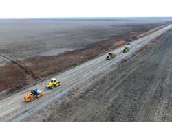 3 kəndi birləşdirən avtomobil yolu yenidən qurulur - FOTO