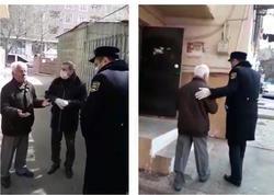 """Arif Quliyev 65 yaşla bağlı qadağanı pozdu, <span class=""""color_red"""">polis onu evə göndərdi - VİDEO</span>"""