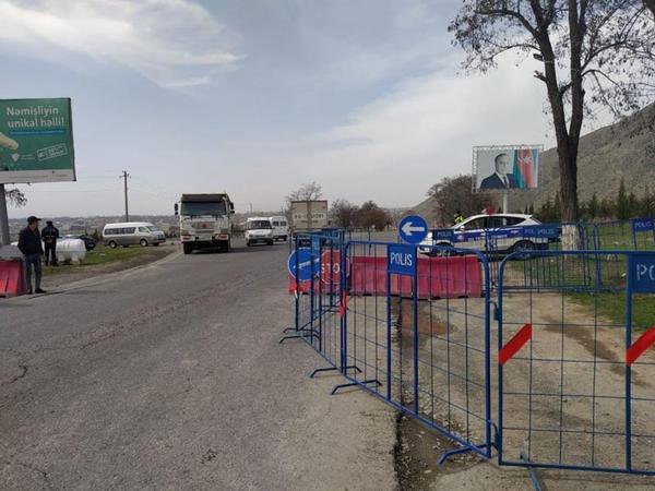 Şəkiyə giriş-çıxış məhdudlaşdırıldı - FOTO