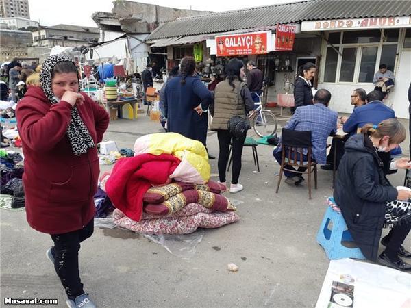 Bakıda antisanitar vəziyyətdə fəaliyyət göstərən bazara polis müdaxiləsi - VİDEO - FOTO