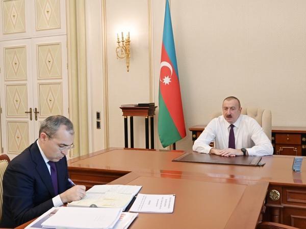 Prezident İlham Əliyev İqtisadiyyat nazirini qəbul edib - FOTO