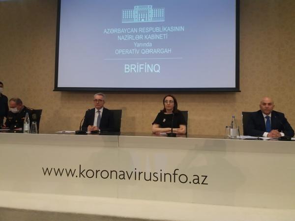 Nazirlər Kabinetinin yanında Operativ Qərargah brifinq keçirir