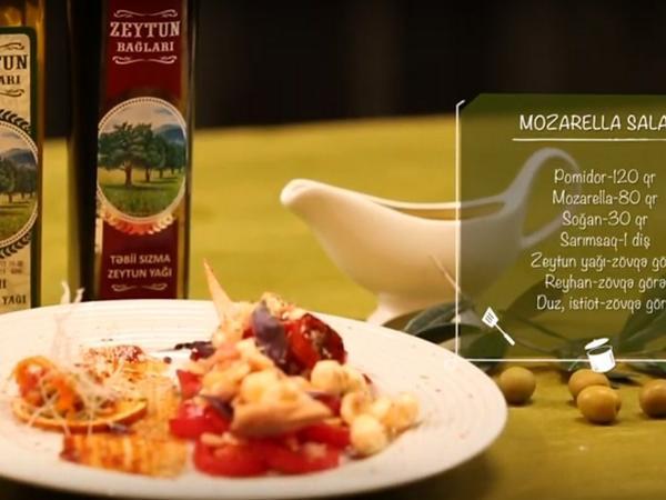 Zeytun yağlı Mozarella salatı - VIDEO