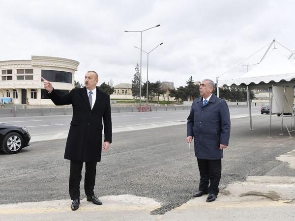 """Prezident İlham Əliyev: """"Bakı-Sumqayıt yolu və bütün qovşaqlar iki aya, maksimum üç ay ərzində istifadəyə verilməlidir"""""""