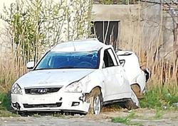 Sumqayıtda yol polisi əməkdaşı qəza törədib - FOTO