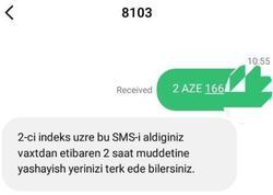 Küçəyə çıxmaq üçün göndərilən SMS-ə belə cavab gəlir - FOTO