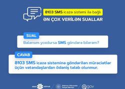 8103 SMS icazə sistemi ilə bağlı ən çox verilən sualların cavabları