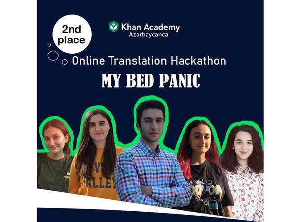 """Bakı Ali Neft Məktəbinin tələbələri onlayn tərcümə """"Hackathon""""unda qalib olub"""