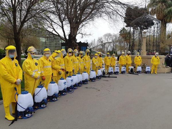 Səbail rayonunda dezinfeksiya tədbirləri davam edir - FOTO
