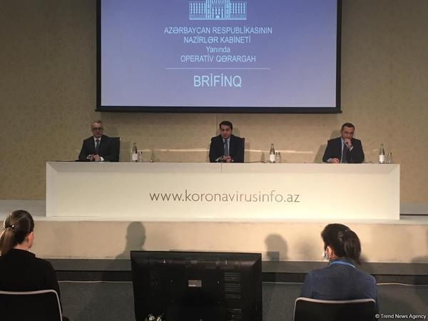 Nazirlər Kabinetinin yanında Operativ Qərargah brifinq keçirir - CANLI