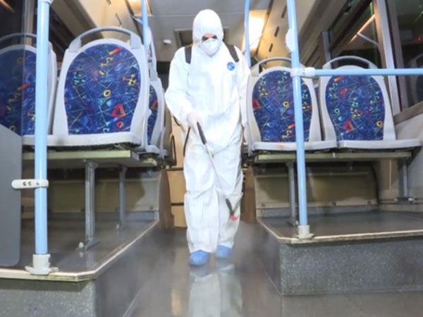 Bütün marşrut avtobusları dezinfeksiya məhlulları ilə təmin edilib