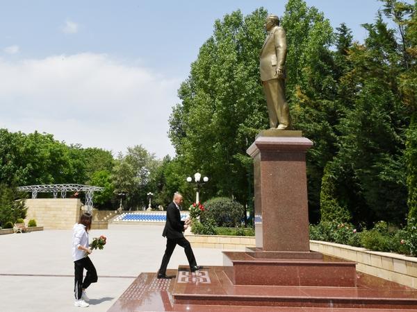 Prezident İlham Əliyev və birinci xanım Mehriban Əliyeva Şamaxı rayonuna səfər ediblər - FOTO
