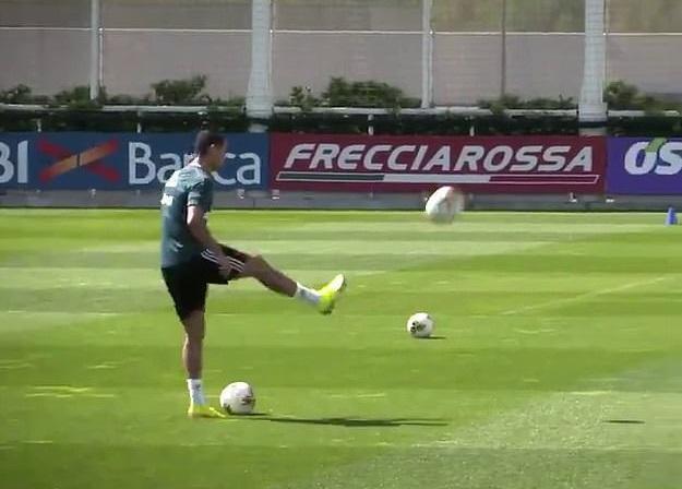 Ronaldo yenə təəccübləndirdi - VİDEO