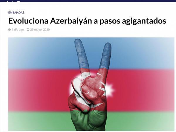 Meksika mətbuatında 28 May-Respublika Gününə həsr olunmuş məqalə dərc olunub