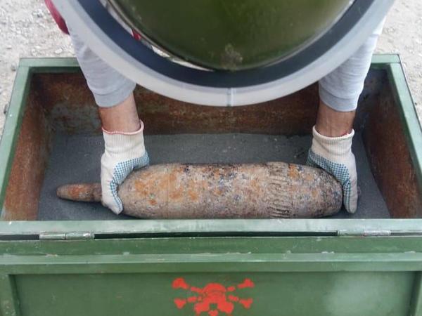 Şəmkirdə 120 mm-lik top mərmisi aşkarlanıb - FOTO