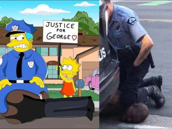 """""""Simpsonlar""""da Corc Floydun ölümü və kütləvi etirazlar - FOTO"""