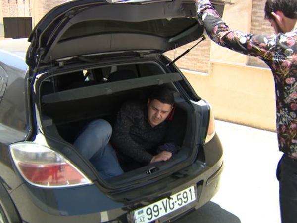 Avtomobilin yük yerində Bakıya gəlmək istəyən şəxs saxlanıldı - FOTO