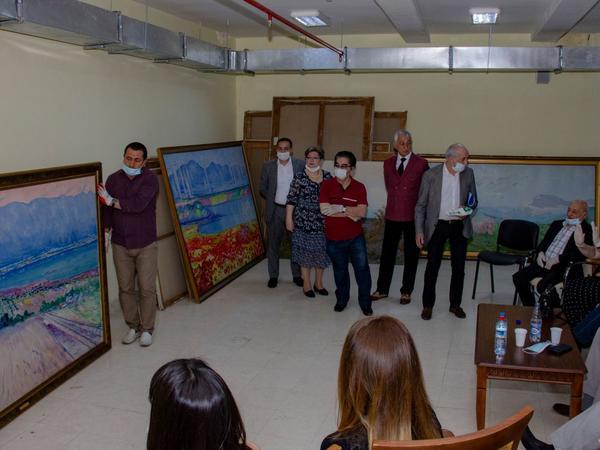 Geniştərkibli komissiya Azərbaycan Milli İncəsənət Muzeyində rəsm əsərlərinin vəziyyətini monitorinq edib - FOTO