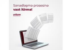 Unibank biznes sahiblərinə kredit xəttindən banka gəlmədən istifadə imkanı yaradıb