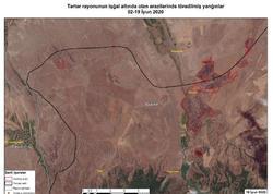 """Azərkosmos Ermənistanın işğal etdiyi Azərbaycan ərazisində 866 hektar sahənin yandırıldığını müəyyən edib - <span class=""""color_red"""">FOTO</span>"""