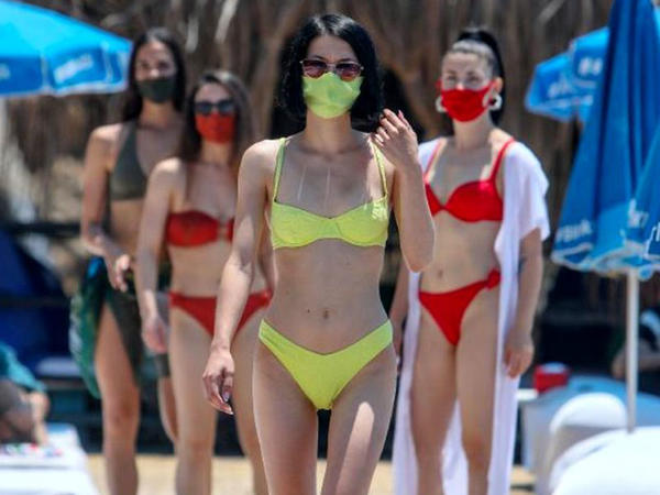 Bu yayın dəbi - Maskalı bikinilər - FOTO