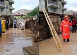 Güclü yağış Türkiyənin Van vilayətində ciddi fəsadlar yaradıb