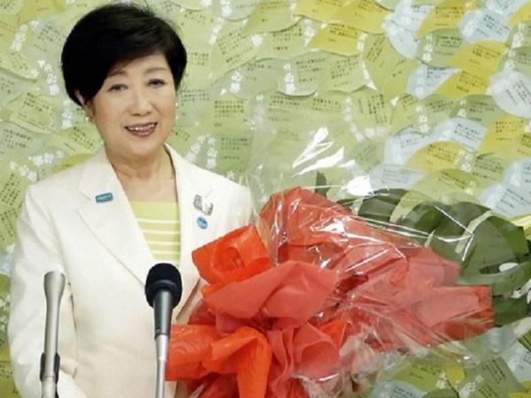 Koike Yuriko Tokio qubernatoru seçildi