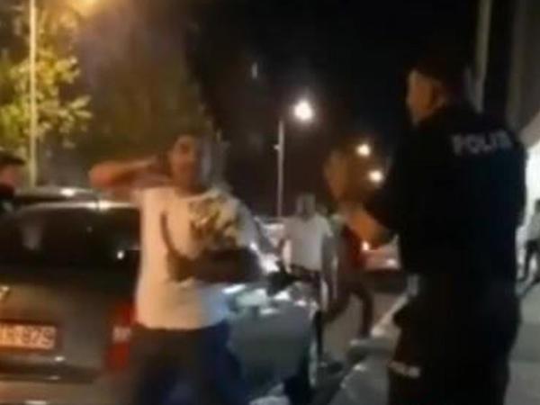 Bakıda polisin qanuni tələblərinə əməl etməyən şəxs həbs edilib - FOTO