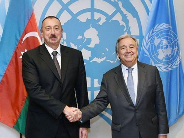 Prezident İlham Əliyev BMT-nin Baş katibinə telefonla zəng edib