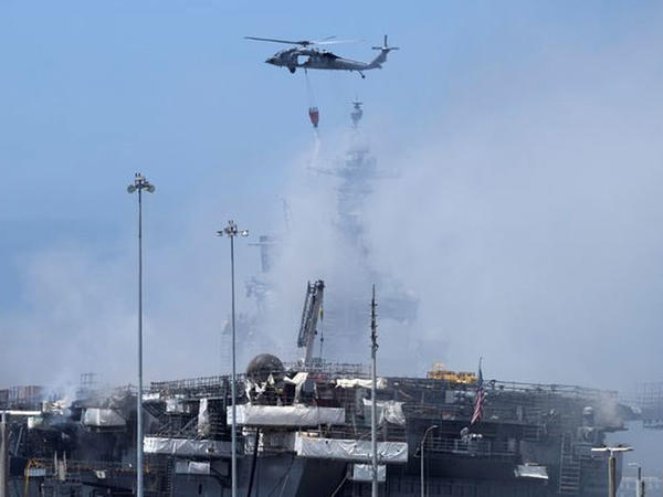 ABŞ-ın hərbi gəmisində baş verən yanğında xəsarət alanların sayı 59-a çatıb