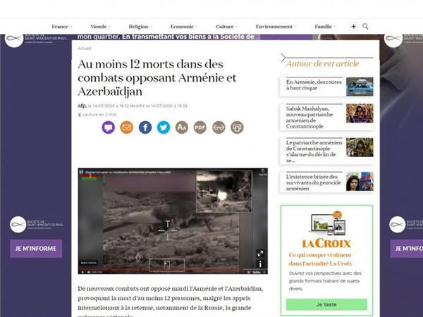 """Erməni lobbisi Fransanın """"L'Express"""" portalını hədələyib - <span class=""""color_red"""">FOTO</span>"""