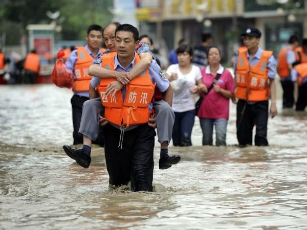 Çində daşqınlardan 6,4 milyon insan zərər çəkib