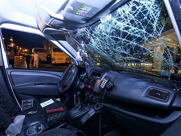 Həmin gecə aşırılan polis maşını - FOTO