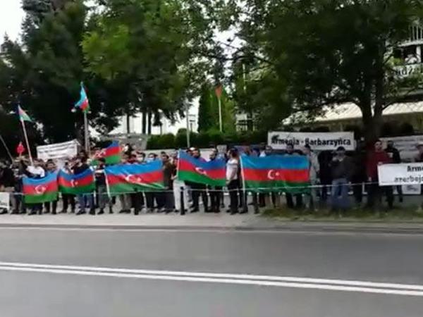 """Polşada Azərbaycan Ordusuna dəstək aksiyası keçirilib - <span class=""""color_red"""">VİDEO</span>"""