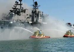 ABŞ Hərbi Dəniz Qüvvələrinin desant gəmisində başlanan yanğın 4 gün sonra söndürülüb