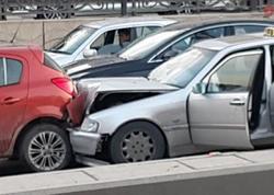 Bakıda 3 avtomobil toqquşdu